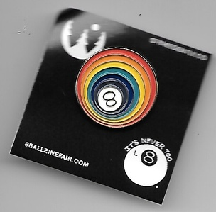8 Ball Rainbow Pin