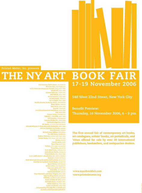 Printed Matter's 2006 NY Art Book Fair