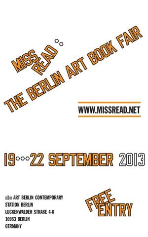 MISS READ : The 2013 Berlin Art Book Fair Poster