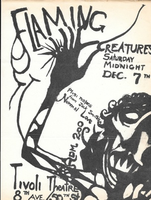 Flaming Creatures Announcement Flyers