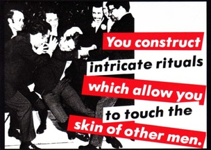 Untitled, 1981 (You Construct Intricate Riutals Which Allow You to Touch the Skin of Other Men) Postcard
