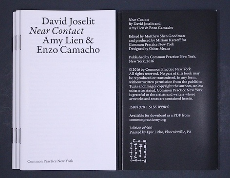 Near Contact by David Joselit and Amy Lien & Enzo Camacho - Launch event
