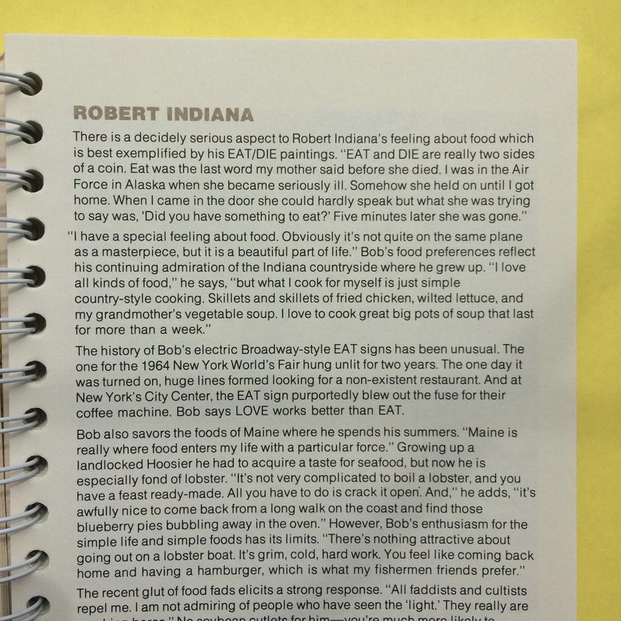 The Museum of Modern Art Artists' Cookbook  thumbnail 4