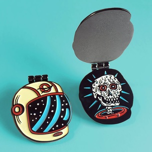 Melted Astronaut Pin