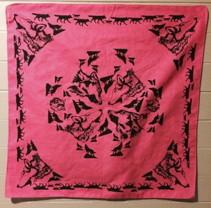Wolf Hanky (Red, Pink, Peach)