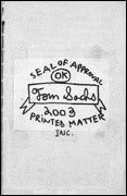 Seal of Approval / Printed Matter 2003 Catalogue