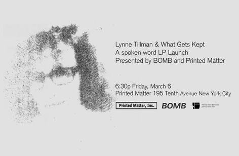 "Lynne Tillman & ""What Gets Kept"" Release Party & Reading"
