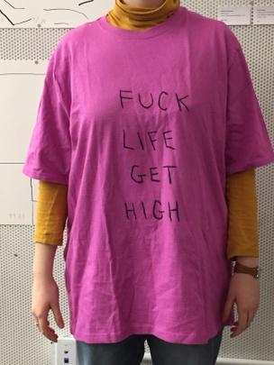 FUCK LIFE GET HIGH T-Shirt [XL]