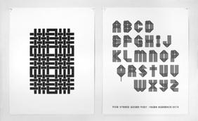 Five Strand Woven Type Specimen Poster