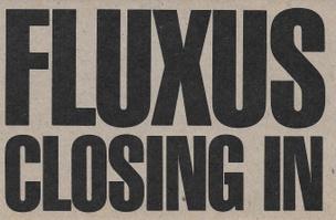 FLUXUS CLOSING IN Postcard