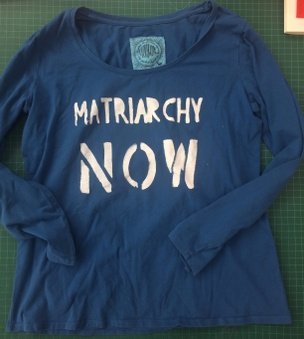Matriarchy Now Scoop Neck Long Sleeve Shirt in Blue [Large]