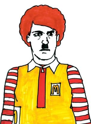 Ronald McHitler Sticker