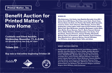 Benefit Auction for Printed Matter's New Home