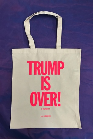 TRUMP IS OVER Tote [Pink]