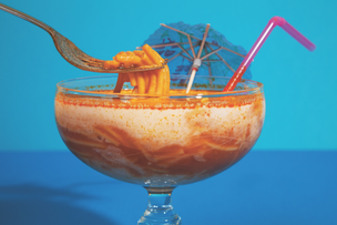 Spaghetti Cocktail Postcard