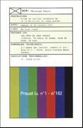 Proust Lu, No. 1-No. 182