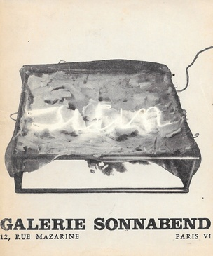Mario Merz : Galerie Sonnabend 1969