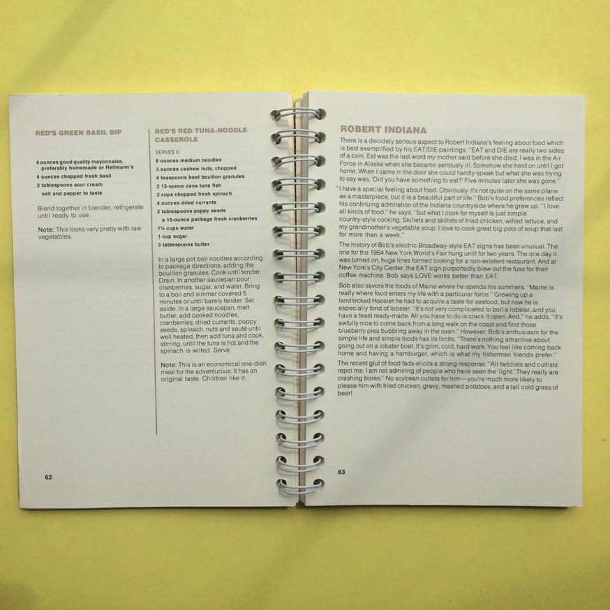 The Museum of Modern Art Artists' Cookbook  thumbnail 5