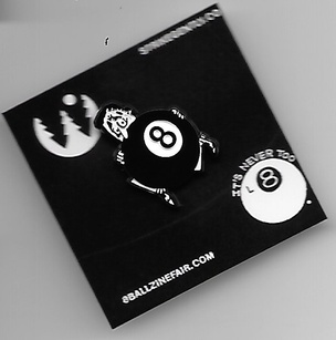 8 Ball Hiding Man Pin