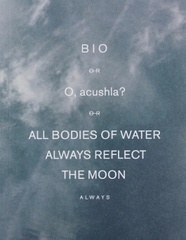 BIO Or O, Acushla? Or ALL BODIES of WATER ALWAYS REFLECT the MOON Always: Bodytemperature [Feuilles Set]