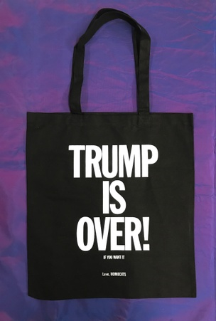 TRUMP IS OVER Tote [Black and White]