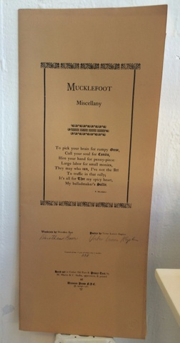 Mucklefoot Miscellany