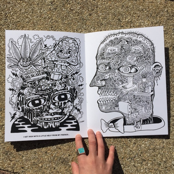 Have A Nice Trip : Killer Acid Coloring Book thumbnail 2